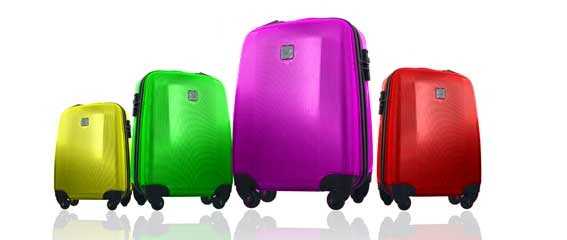 Laminated plastic sheets used for producing objects such as suitcases